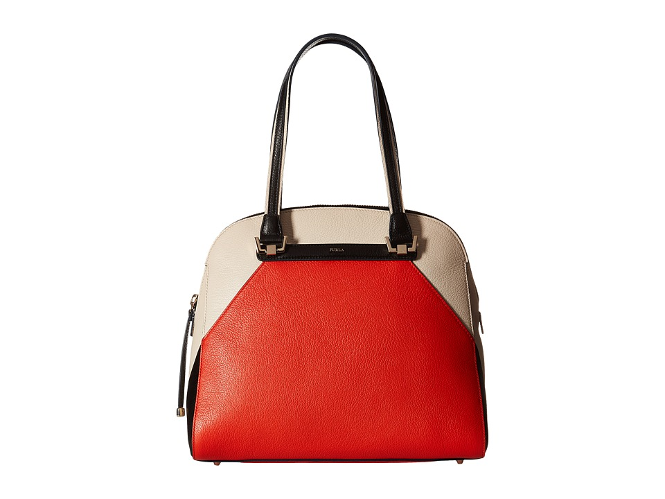 Furla - Corona Medium Dome Satchel (Arancio/Conchiglia) Satchel Handbags