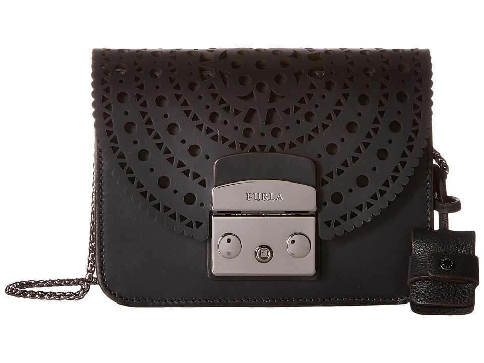 Furla - Metropolis Bolero Mini Crossbody (Onyx) Cross Body Handbags