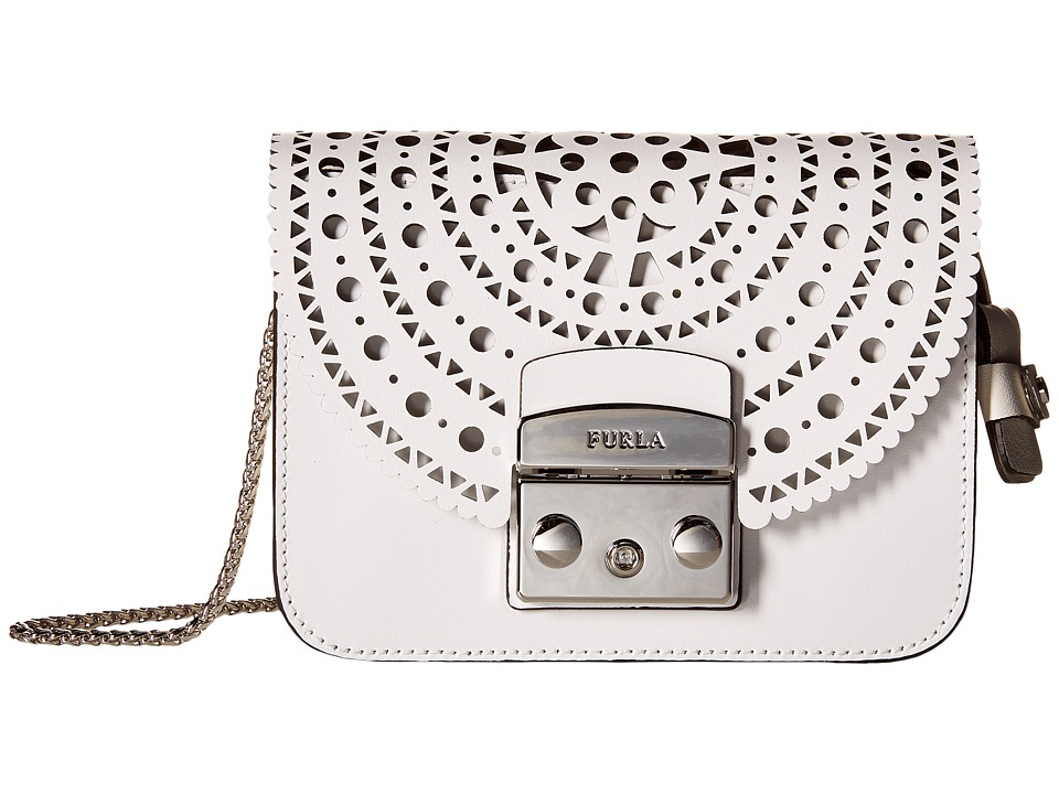 Furla - Metropolis Bolero Mini Crossbody (Chalk/Petalo) Cross Body Handbags
