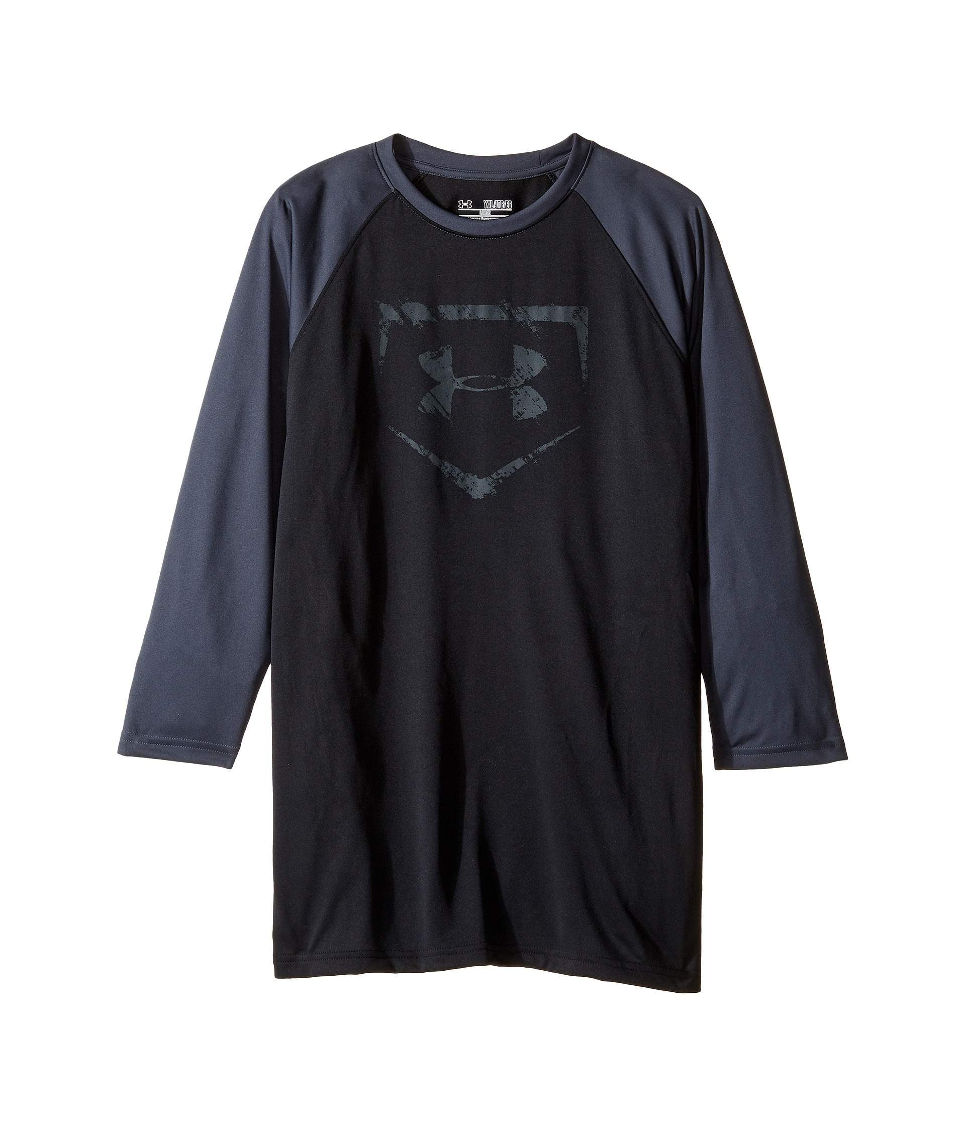 Under armour kids 3 4 sleeve baseball tee big kids for Under armour shirts for kids