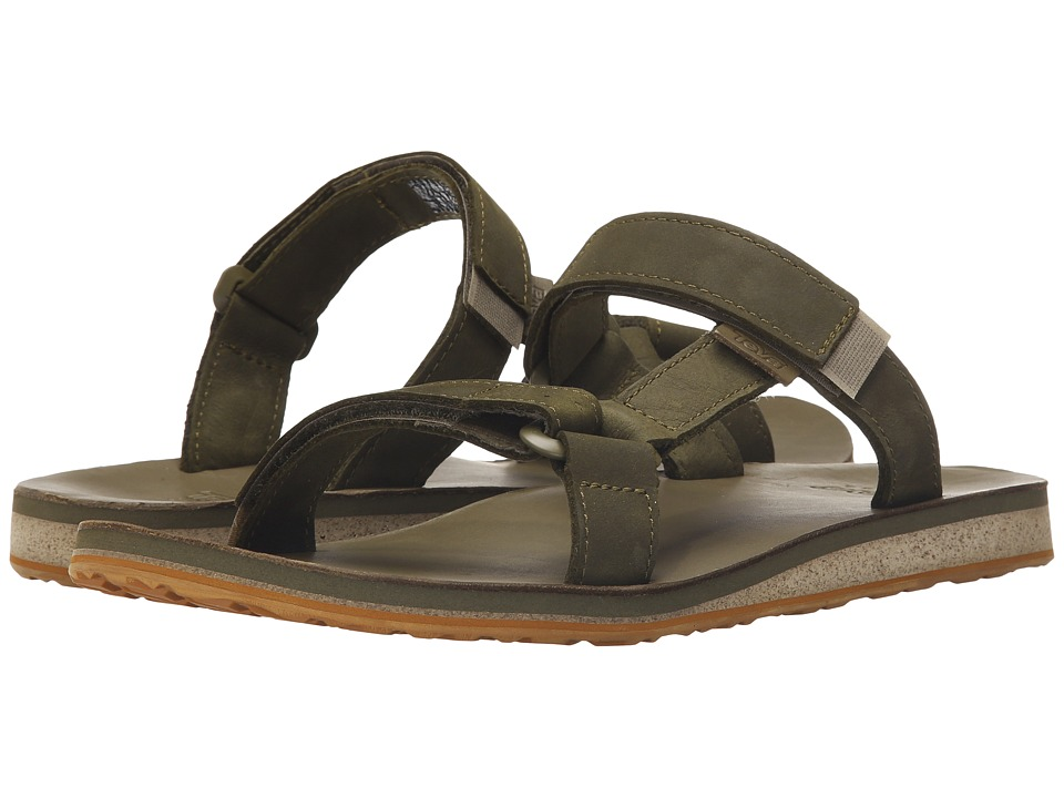 Teva - Universal Slide Leather (Dark Olive) Men