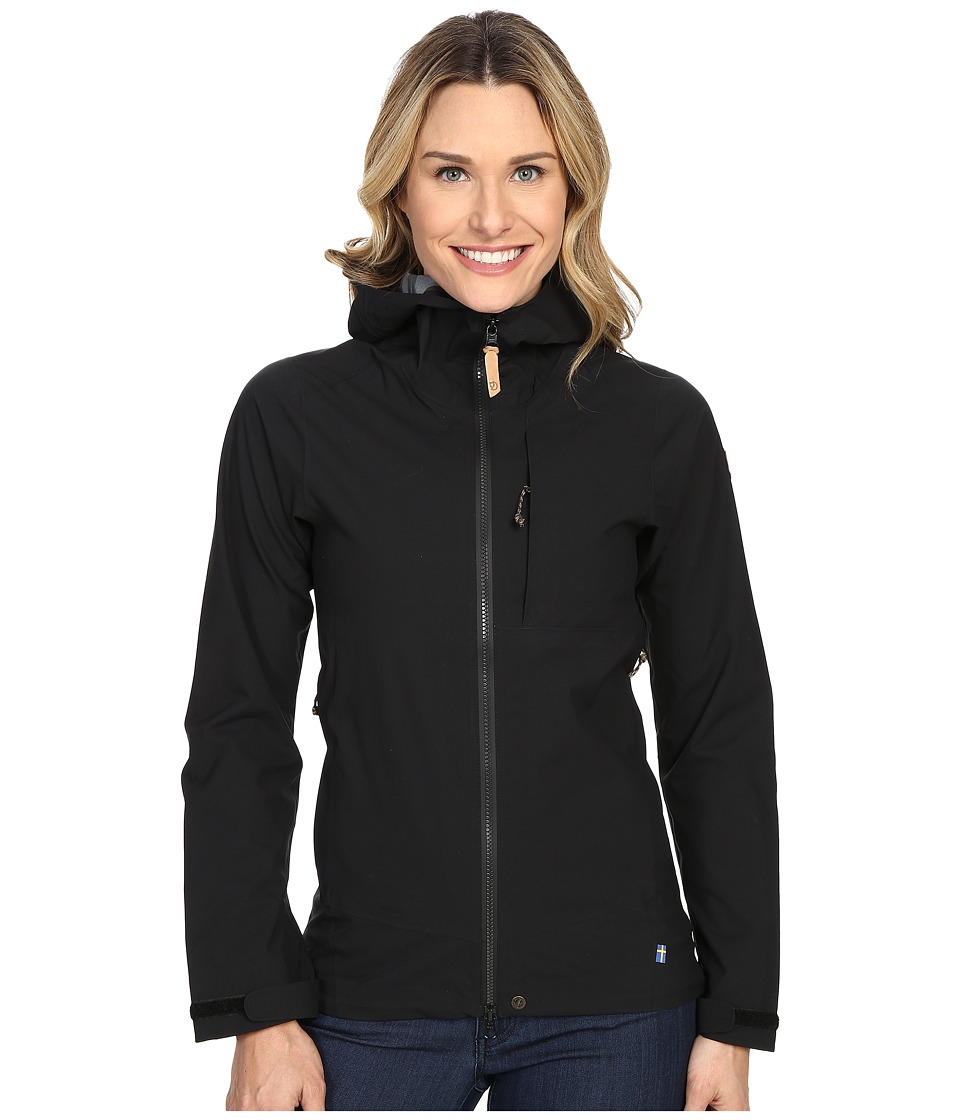 Fj llr ven Abisko Eco Shell Jacket Black Womens Coat