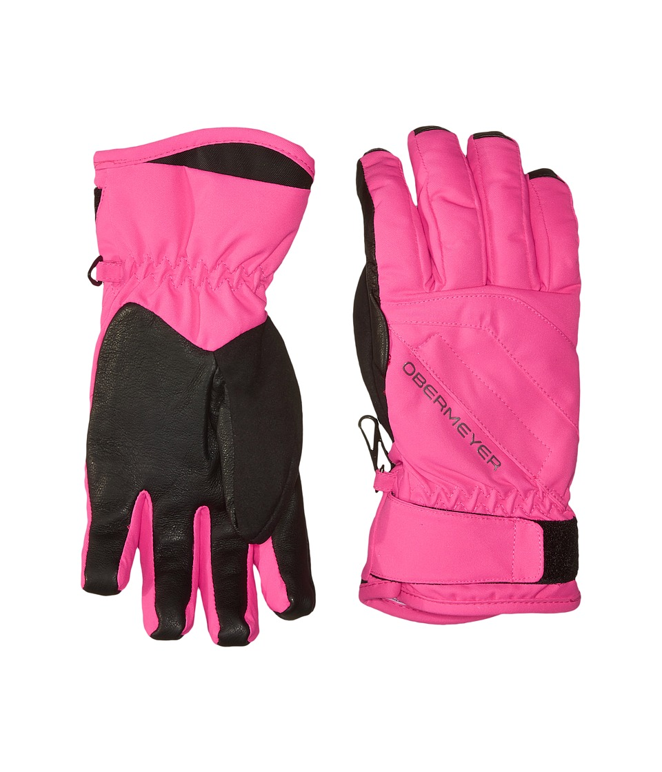 Obermeyer Kids Cornice Gloves (Big Kids) (Electric Pink) Extreme Cold Weather Gloves