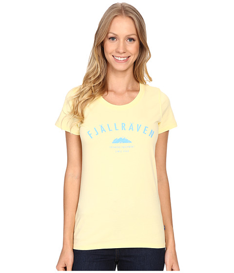 Fjällräven Trekking Equipment T-Shirt - Pale Yellow/Bluebird