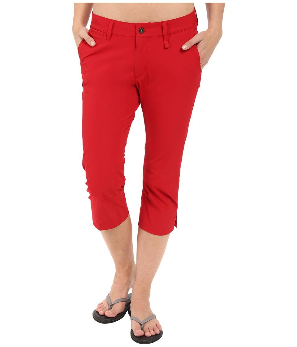 Fj llr ven Abisko Capris Trousers Red Womens Capri