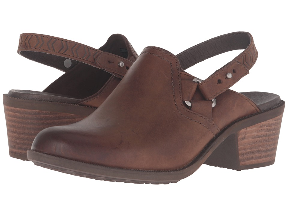Teva Foxy Clog Leather (Brown) Women's Clog/Mule Shoes