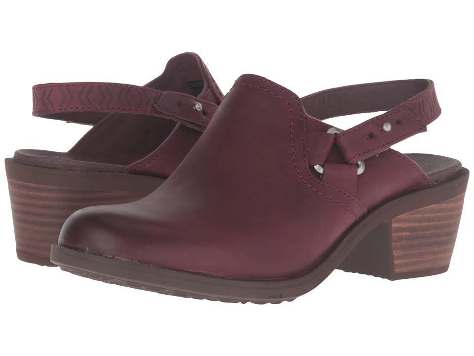 Teva Foxy Clog Leather (Burgundy) Women