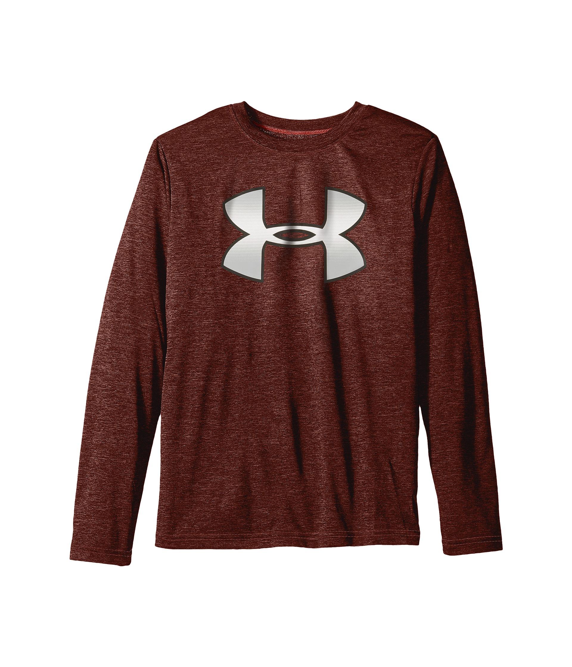 Under Armour Kids Novelty Big Logo Long Sleeve T Shirt
