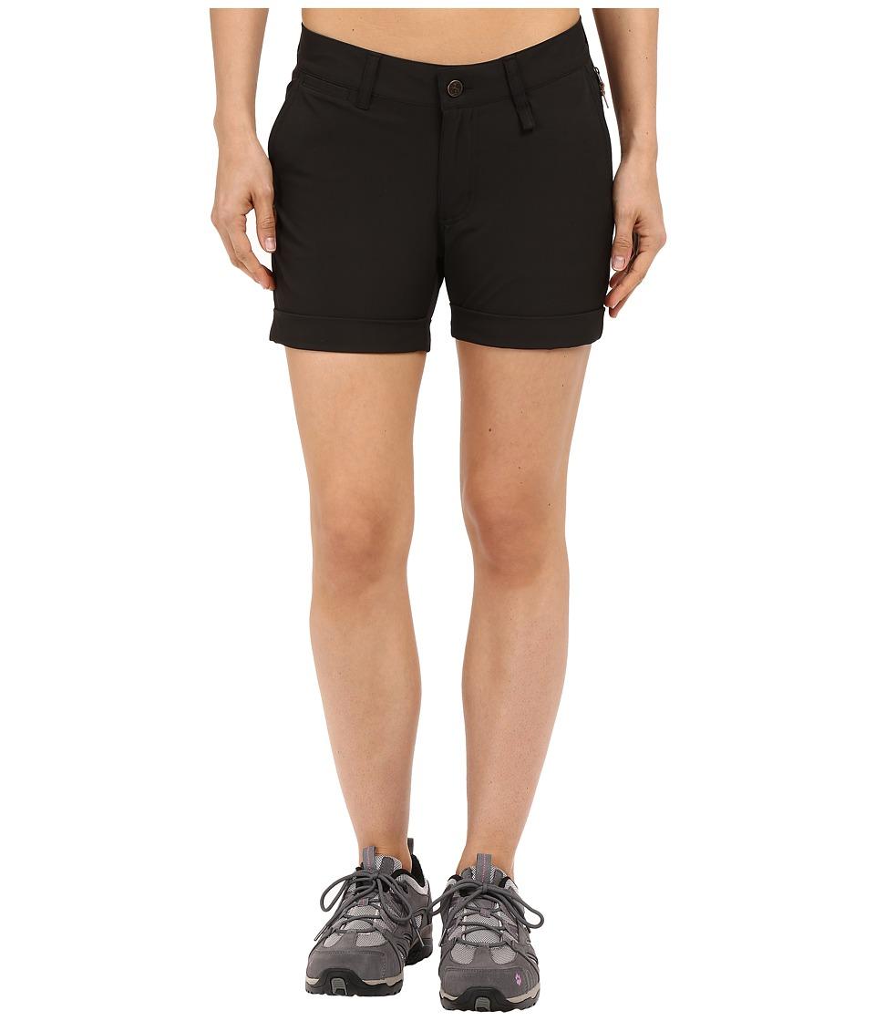 Fjallraven - Abisko Stretch Shorts (Black) Womens Shorts