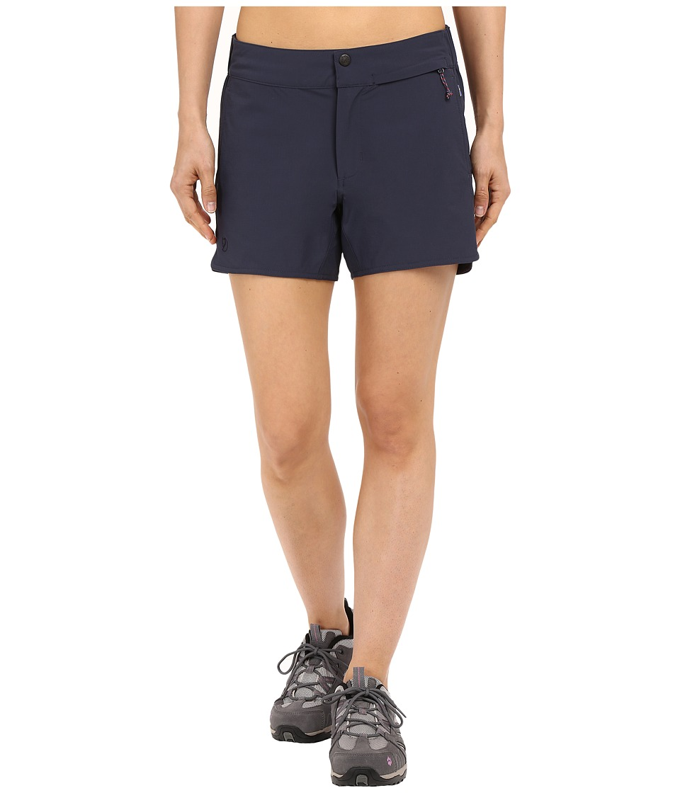 Fjallraven - High Coast Trail Shorts (Navy) Womens Shorts