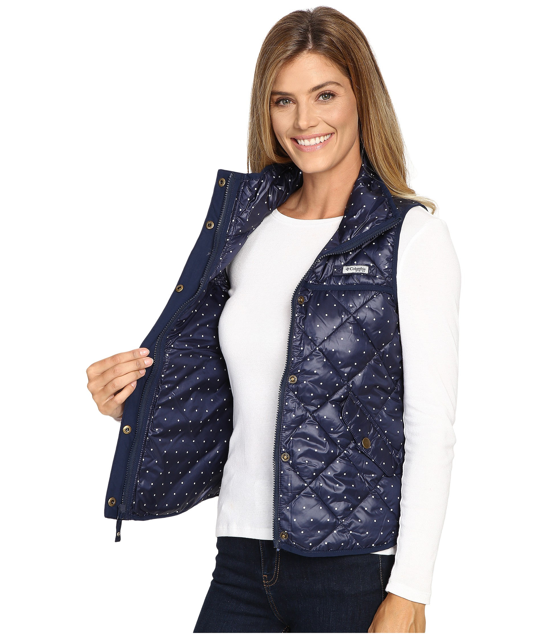 Columbia Harborside Diamond Quilted Vest At Zappos Com