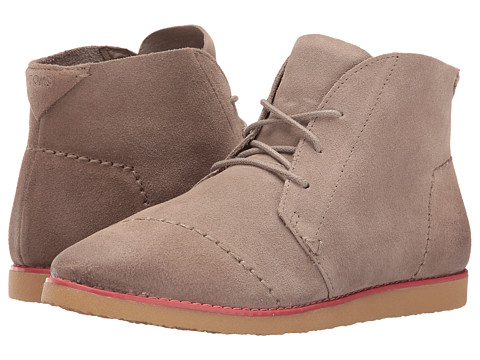 TOMS Mateo Chukka Bootie - Desert Taupe Burnished Suede