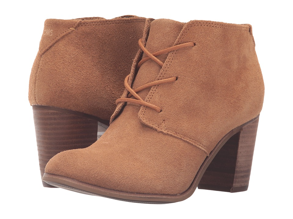 TOMS Lunata Lace-Up Bootie (Wheat Suede) Women