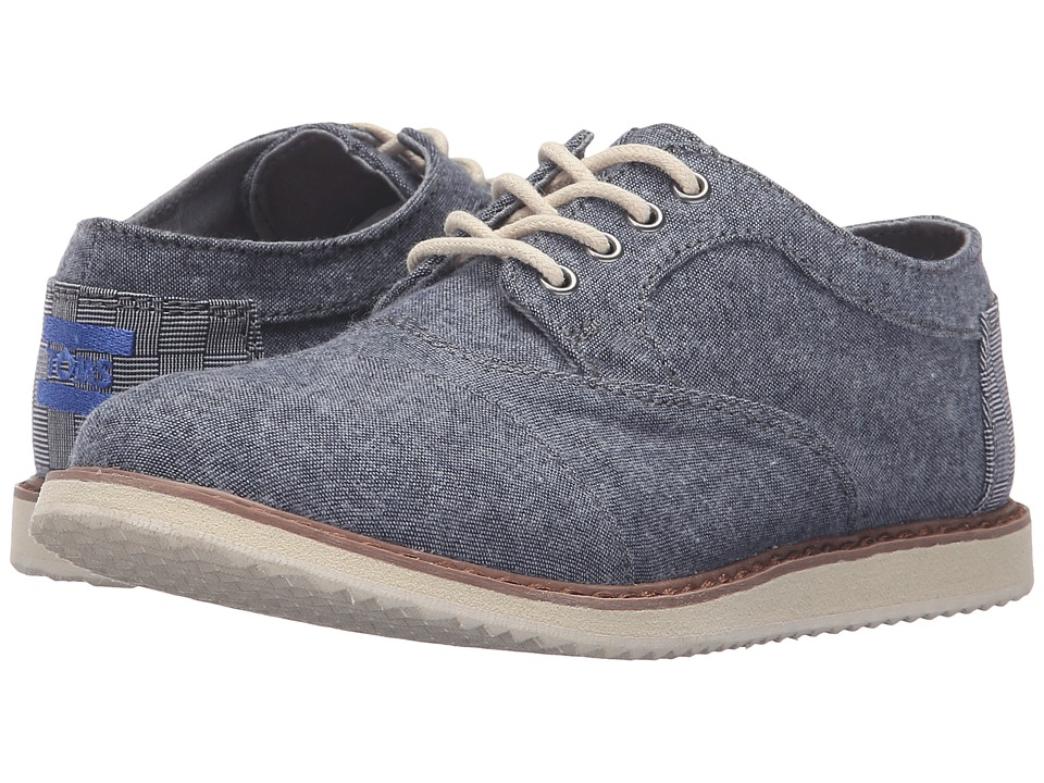 TOMS Kids - Brogue Dress Lace-Up (Little Kid/Big Kid) (Blue Chambray) Boys Shoes
