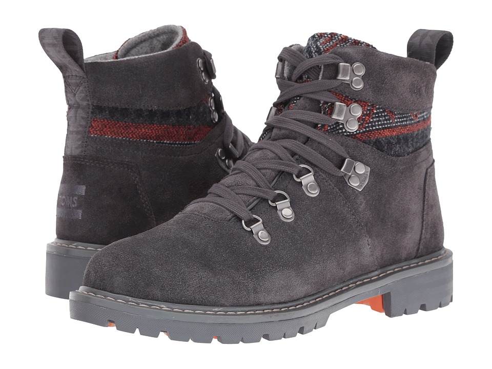 TOMS Summit Boot (Forged Iron Grey Suede/Tribal Textile) Women