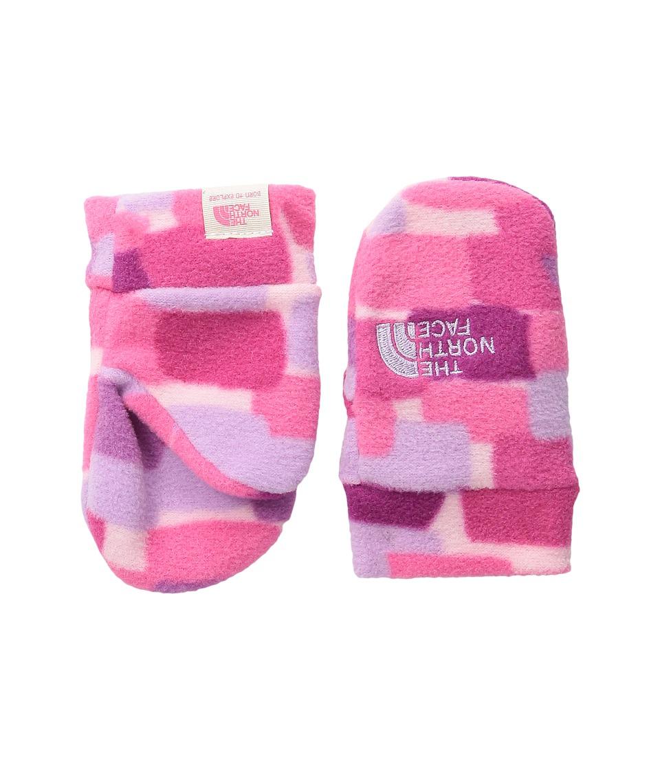 The North Face Kids Nugget Mitt (Infant) (Cabaret Pink Pixel Print) Extreme Cold Weather Gloves