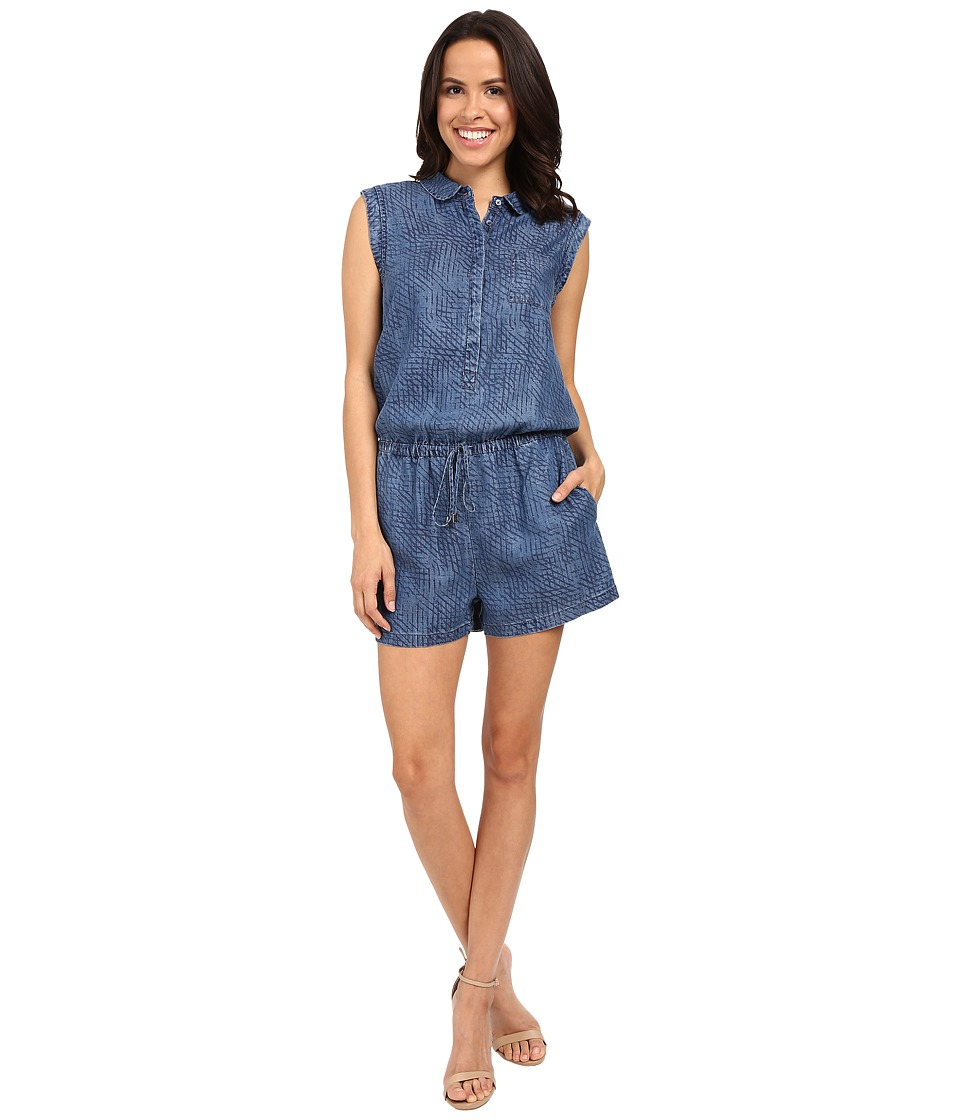 Tart Uri Romper Sketched Denim Womens Jumpsuit Rompers One Piece