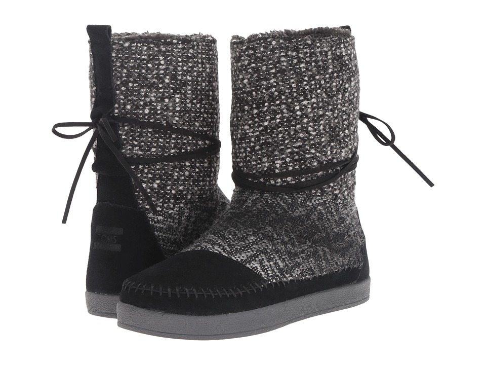 TOMS Nepal Boot (Black Suede/Textile) Women