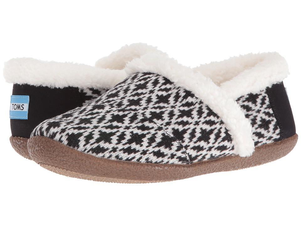 TOMS - Slipper (Black/White Fair Isle) Womens Slippers