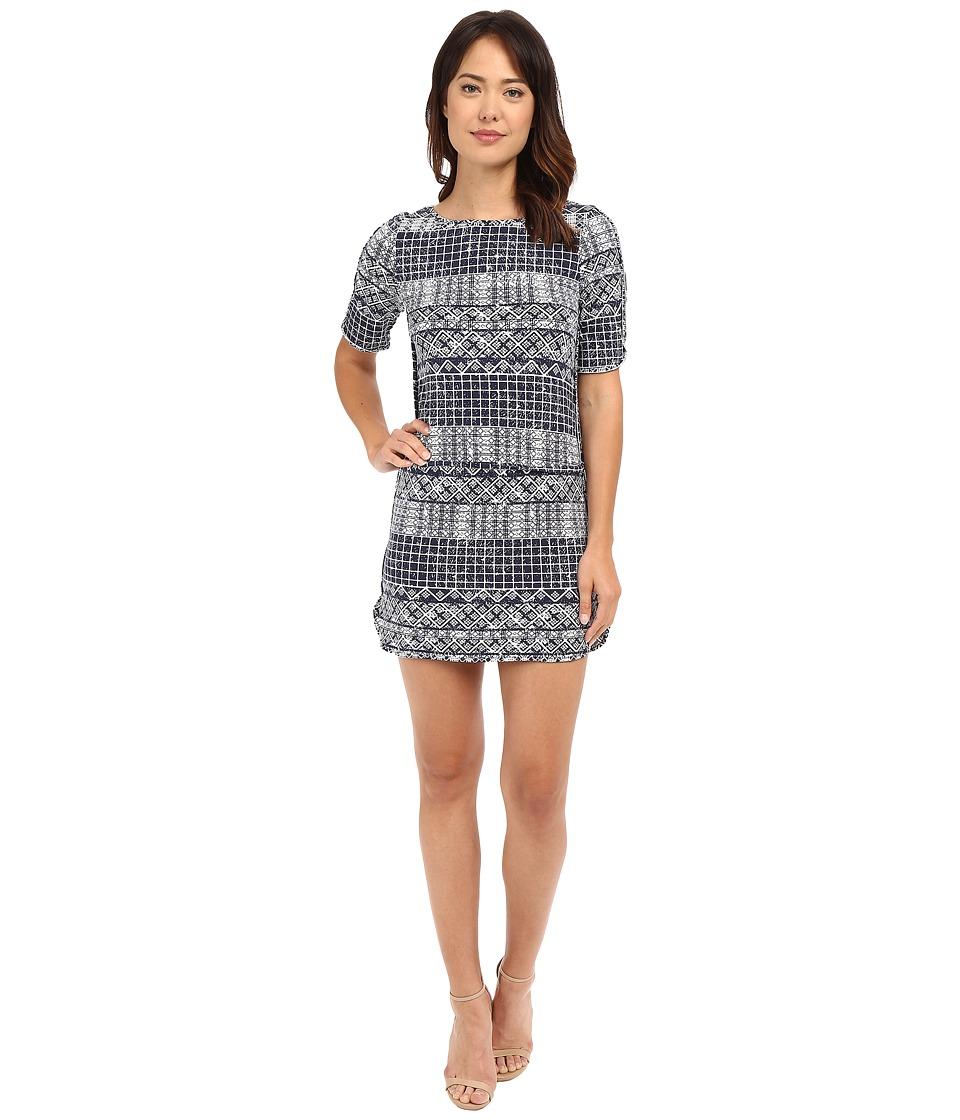 Tart Devanney Dress Wax Print Geo Womens Dress