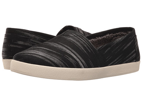 TOMS Avalon Slip-On - Black Brushed Woven/Shearling