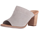 TOMS - Majorca Mule Sandal (Drizzle Grey Suede Perforated)