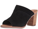 TOMS - Majorca Mule Sandal (Black Suede Perforated)