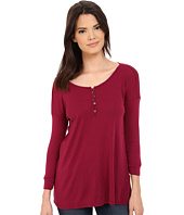 Three Dots - Elena 3/4 Sleeve High-Low Henley