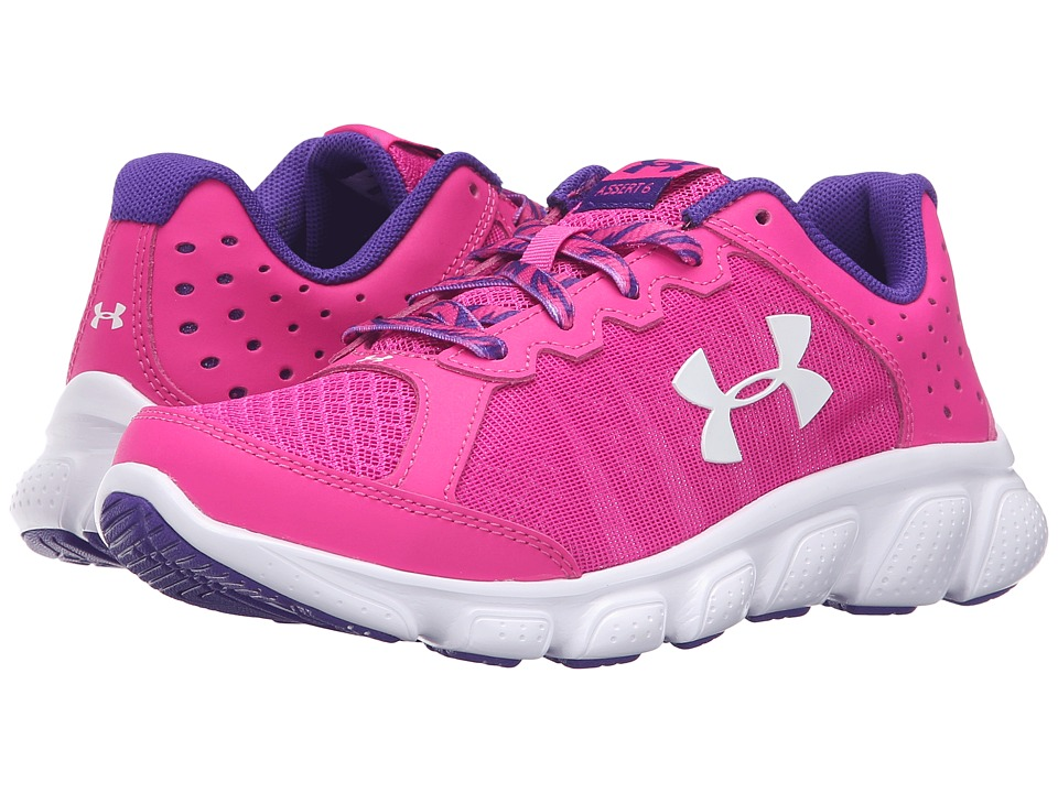 Under Armour Kids - UA GPS Assert 6 (Little Kid) (Lunar Pink/White/White) Girls Shoes
