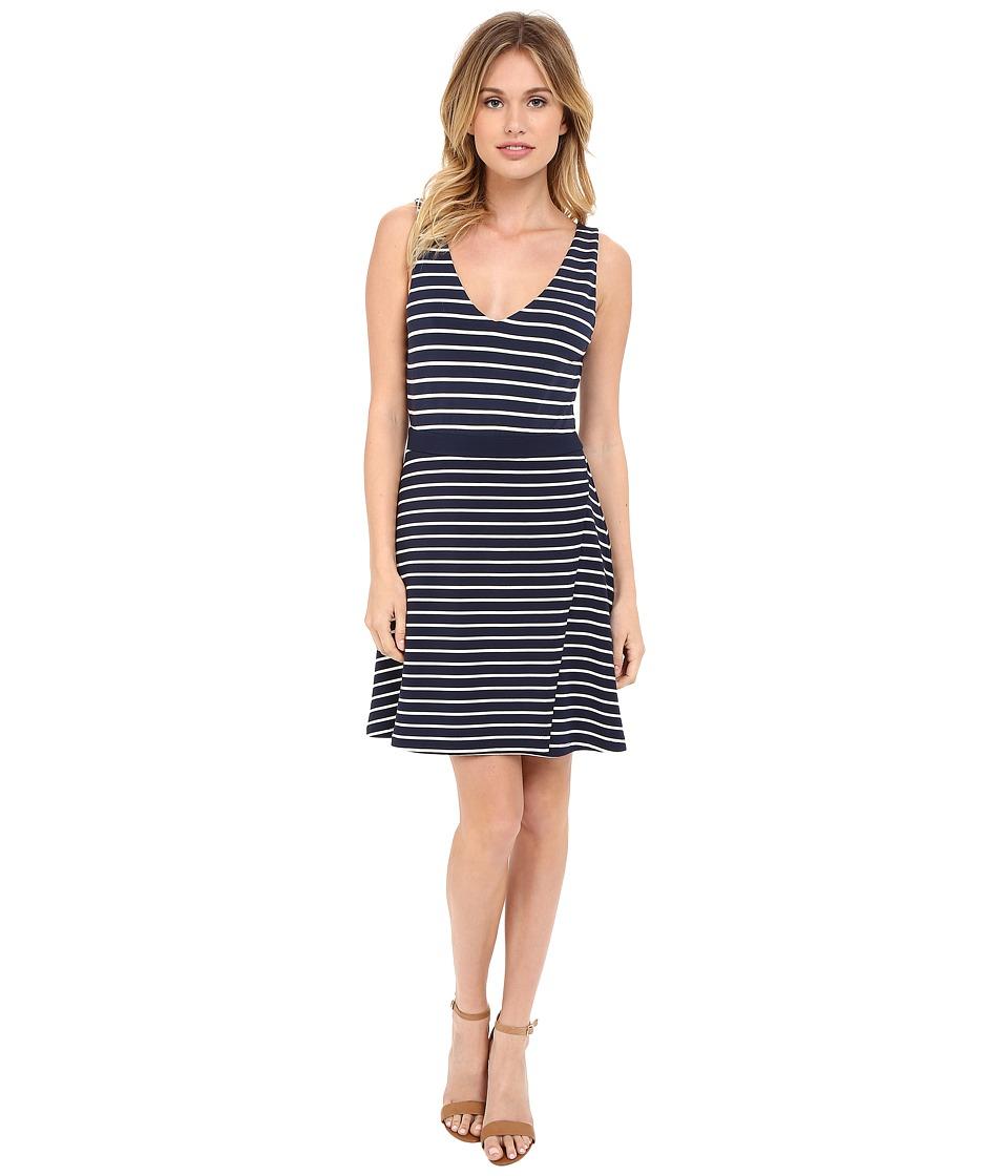 Tart Britta Dress Black Iris/White Stripe Womens Dress