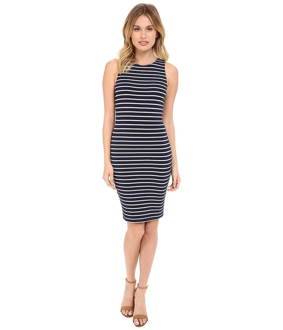 Tart Lindy Dress Black Iris/White Stripe Womens Dress