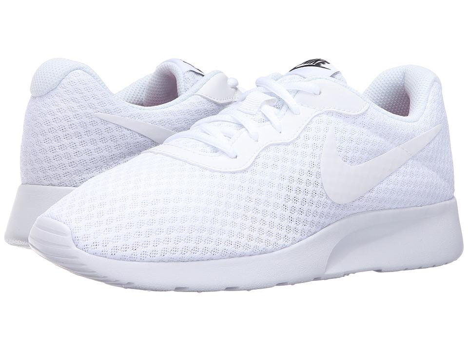 Nike - Tanjun (White/White/Black) Womens Running Shoes