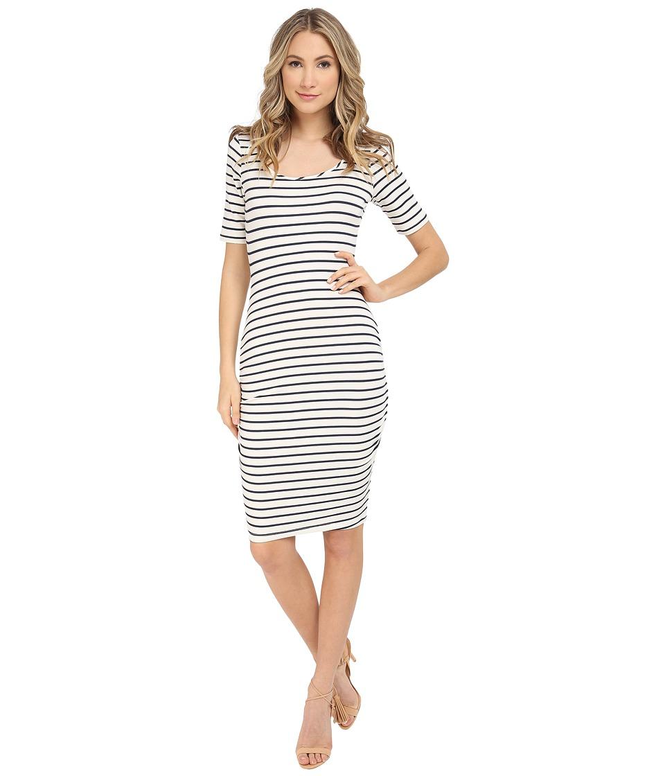 Tart Jasmin Dress White/Navy Stripe Womens Dress