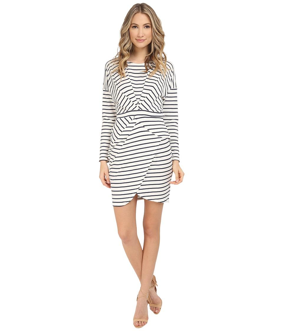 Tart Makayla Dress White/Navy Stripe Womens Dress