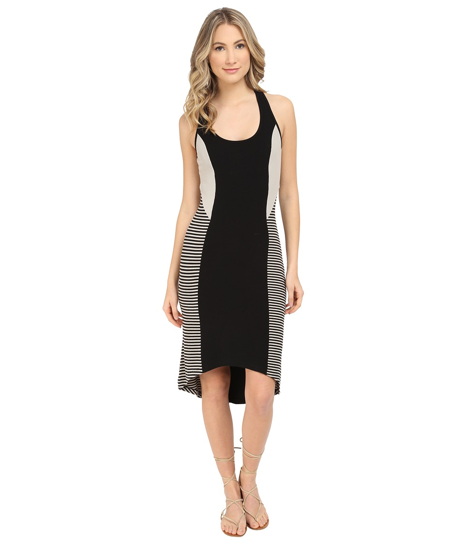 Tart Bailey Dress Black/Taupe Striped Womens Dress
