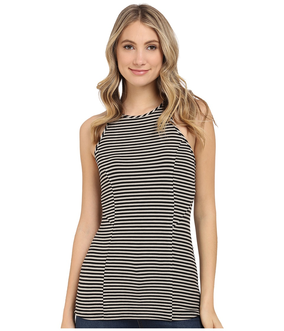 Tart Liliana Tank Top Black/Taupe Striped Womens Sleeveless