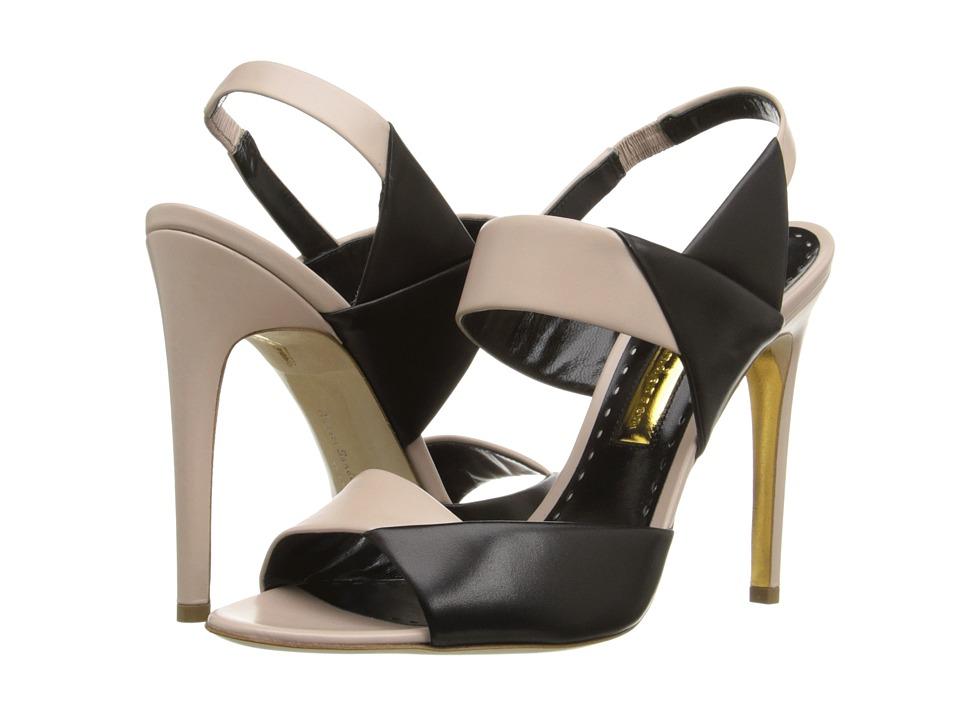 Rupert Sanderson Glynnis Sandal Lotion/Black Calf High Heels
