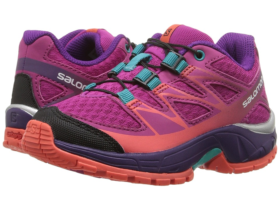 Salomon Kids - Wings (Toddler/Little Kid) (Deep Dalhia/Cosmic Purple/Coral Punch) Girls Shoes