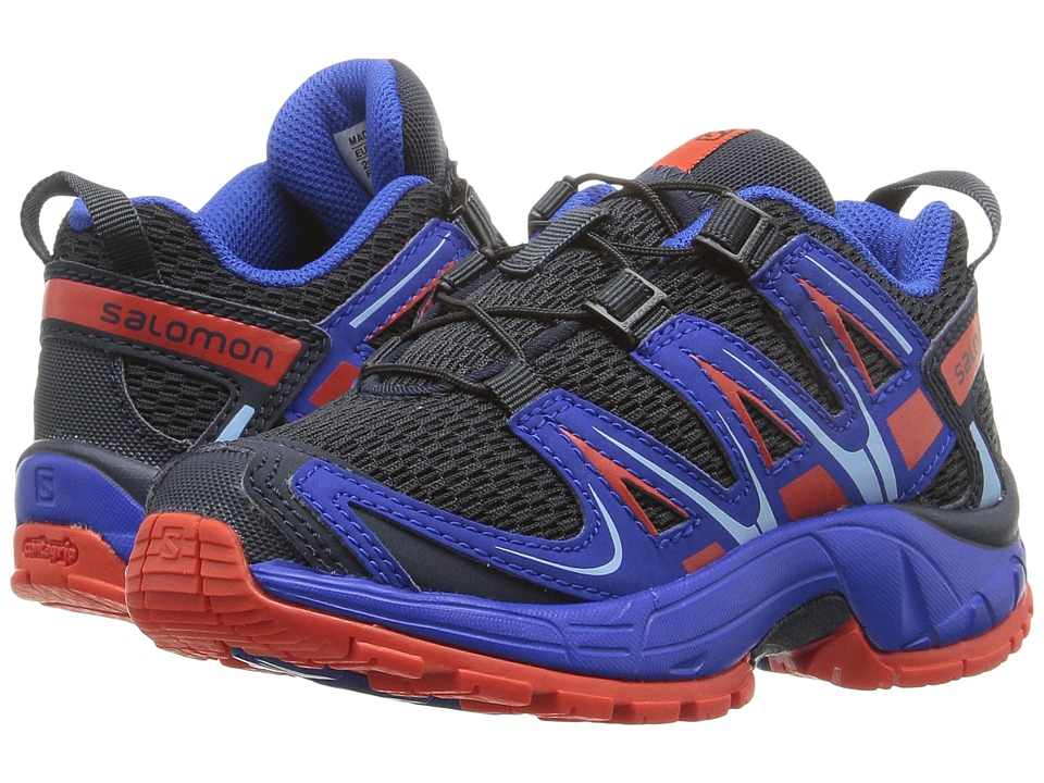 Salomon Kids - Xa Pro 3D (Toddler/Little Kid) (Deep Blue/Blue Yonder/Lava Orange) Boys Shoes