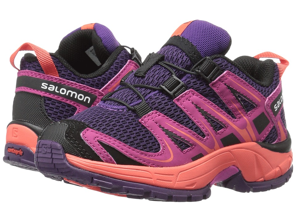 Salomon Kids - Xa Pro 3D (Toddler/Little Kid) (Cosmic Purple/Deep Dalhia/Coral Punch) Girls Shoes