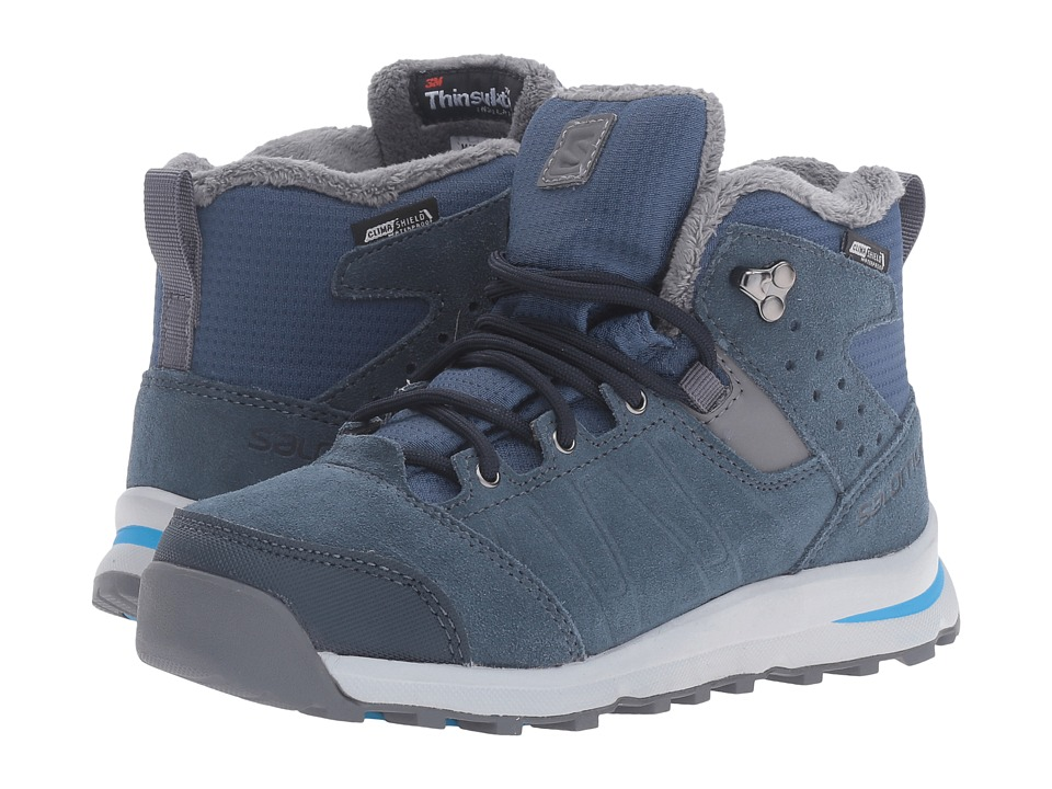 Salomon Kids Utility TS CSWP (Little Kid/Big Kid) (Slateblue/Deep Blue/Pool) Boys Shoes