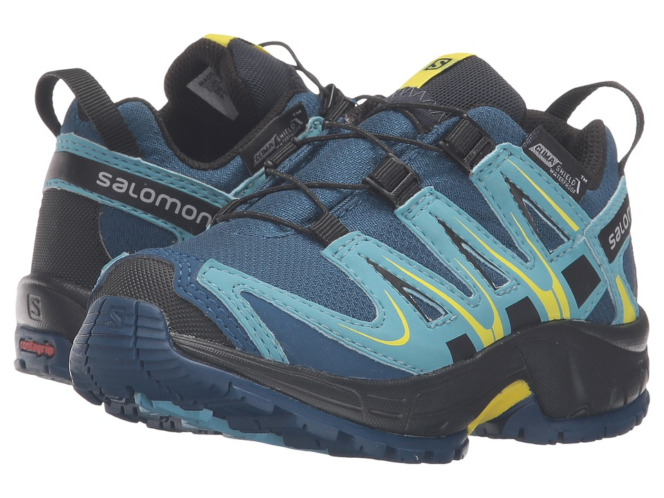 Salomon Kids Xa Pro 3D Cswp (Toddler/Little Kid) (Midnight Blue/Blue Gum/Corona Yellow) Boys Shoes