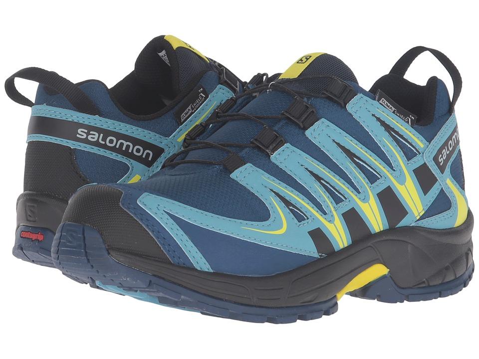 Salomon Kids Xa Pro 3D Cswp (Little Kid/Big Kid) (Midnight Blue/Blue Gum/Corona Yellow) Boys Shoes