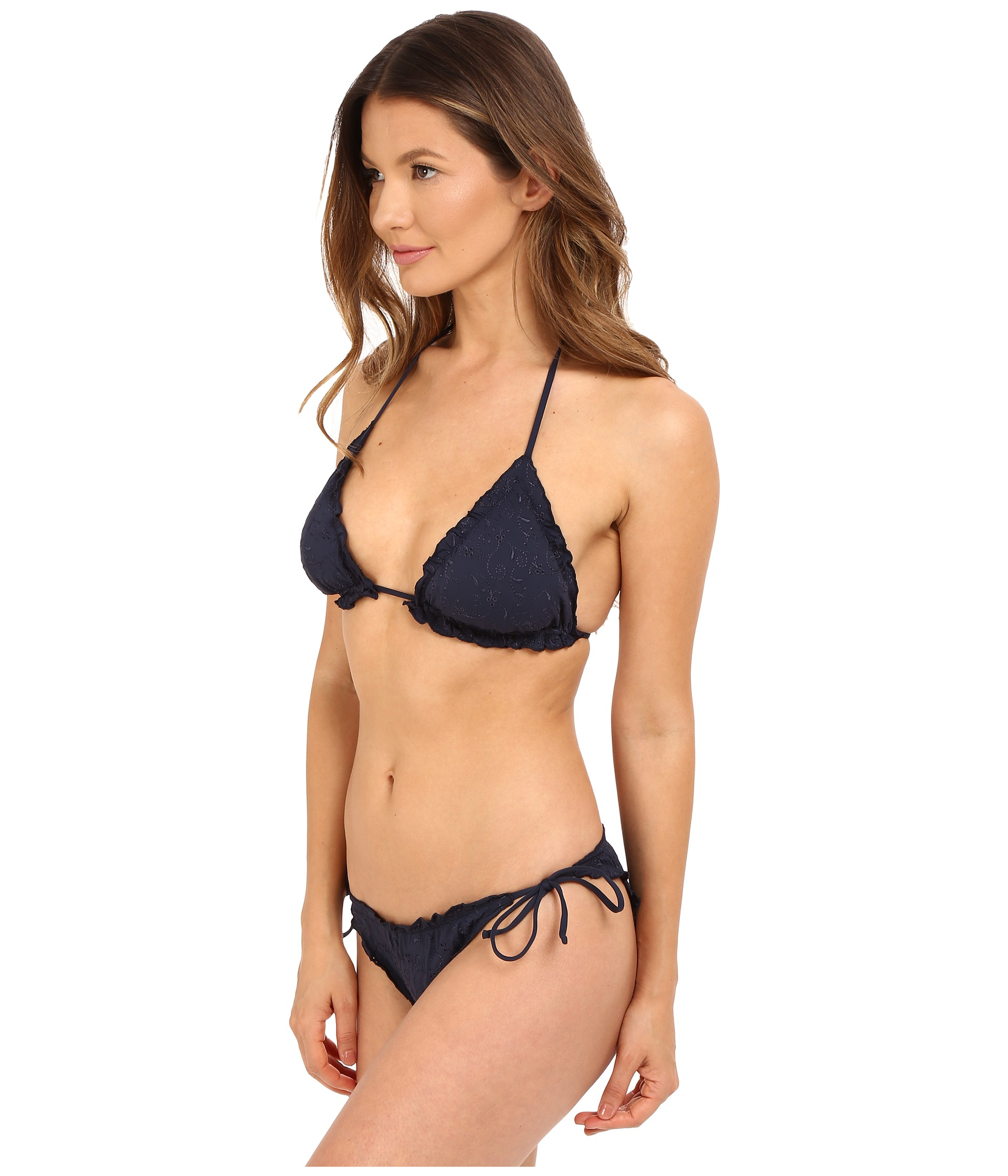 emporio armani triangle string bikini navy free shipping both ways. Black Bedroom Furniture Sets. Home Design Ideas