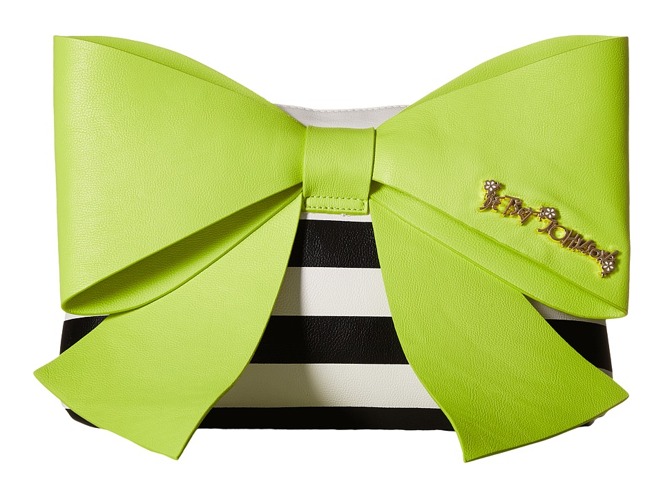 Betsey Johnson - Big Bow Chic Large Bow Clutch (Citron) Clutch Handbags