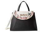 Betsey Johnson In Bloom Large Satchel (Black)