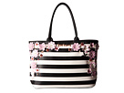 Betsey Johnson In Bloom Tote (Stripe)