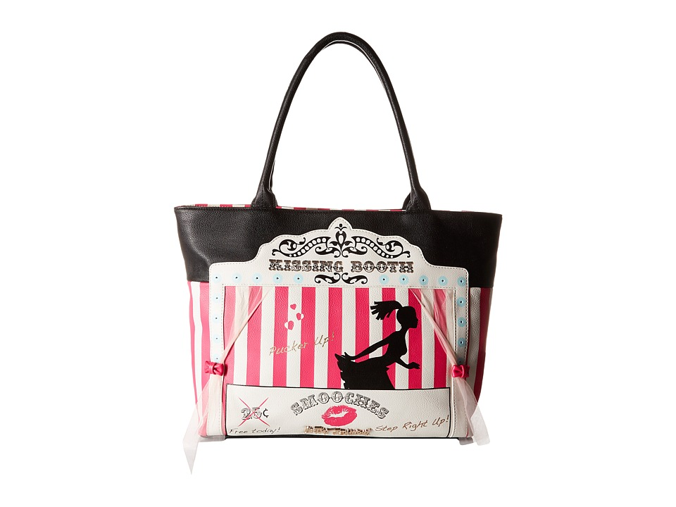 Betsey Johnson - Kitch Kissing Booth Tote (Black) Tote Handbags