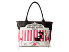 Betsey Johnson Kitch Kissing Booth Tote (Black)