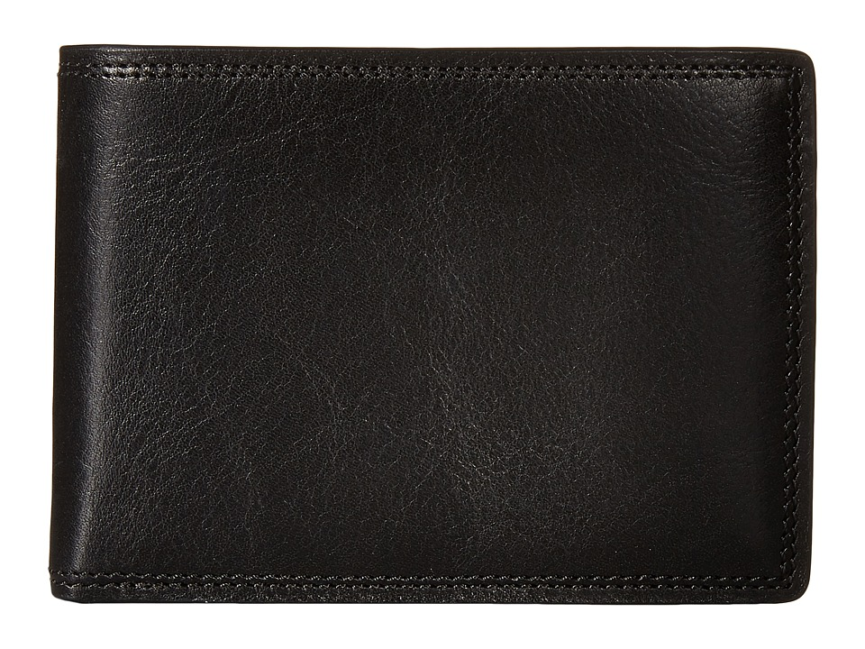 Bosca - Dolce Collection - Credit Card Wallet w/ ID Passcase (Black) Bi-fold Wallet